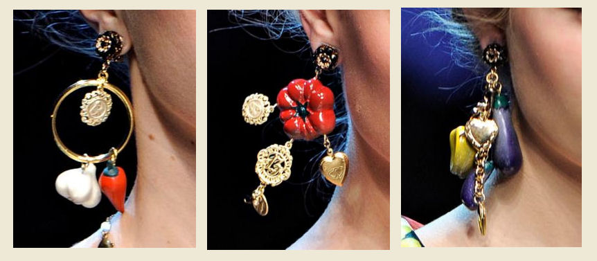 Dolce and Gabbana Spring Summer 2012 Earrings