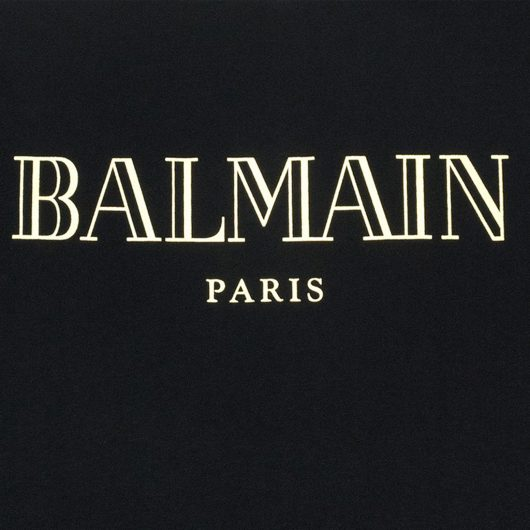 balmain black t shirt close up
