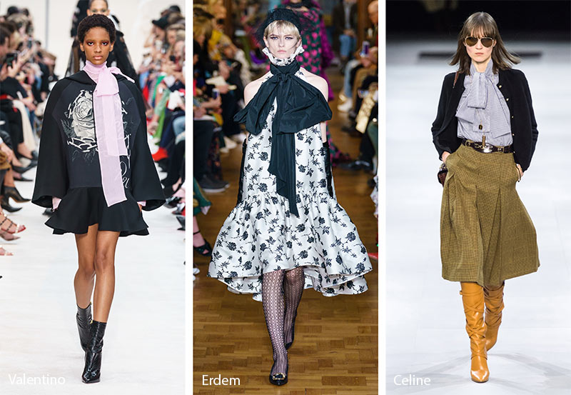 fall winter 2019 2020 fashion trends bows ribbons