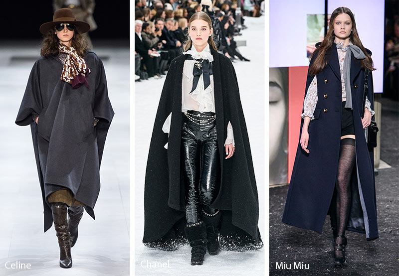 fall winter 2019 2020 fashion trends capes cloaks