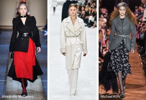 fall winter 2019 2020 fashion trends cinched waists