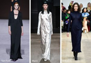 fall winter 2019 2020 fashion trends column dresses