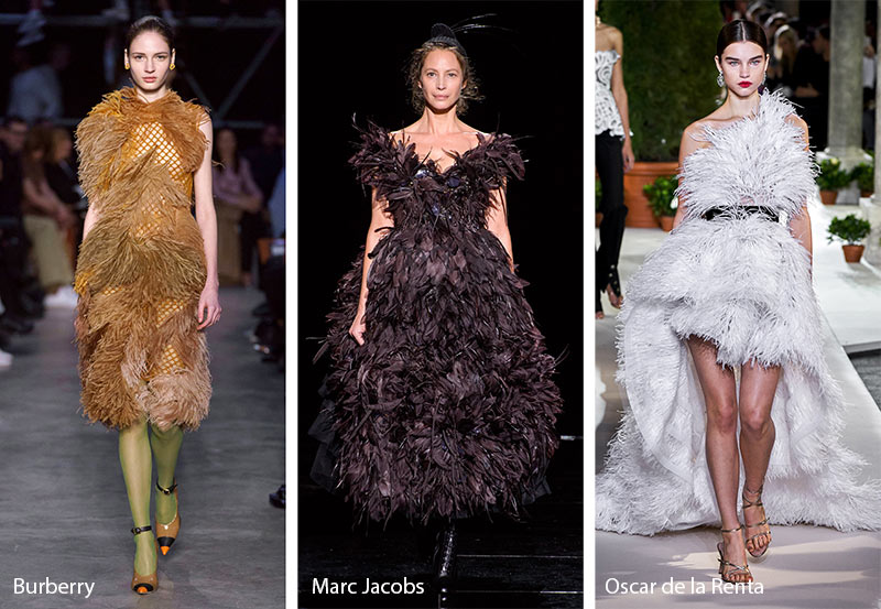 fall winter 2019 2020 fashion trends feathers