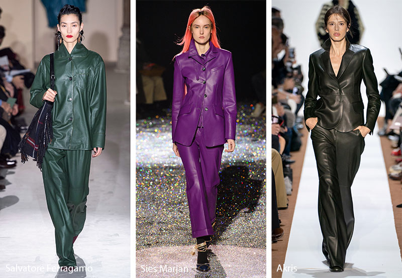fall winter 2019 2020 fashion trends leather suits