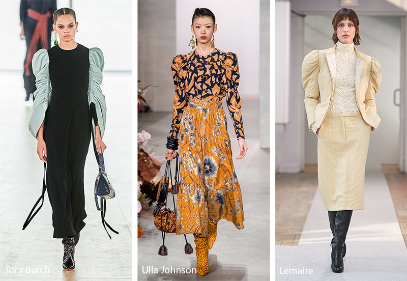 fall winter 2019 2020 fashion trends leg of mutton sleeves