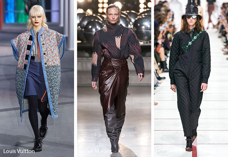 fall winter 2019 2020 fashion trends quilting