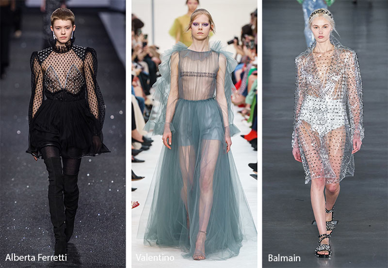 fall winter 2019 2020 fashion trends see through clothing