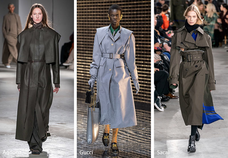 fall winter 2019 2020 fashion trends trench coats with a back yoke
