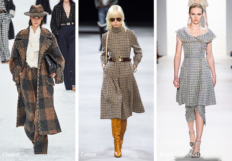 fall winter 2019 2020 fashion trends tweed