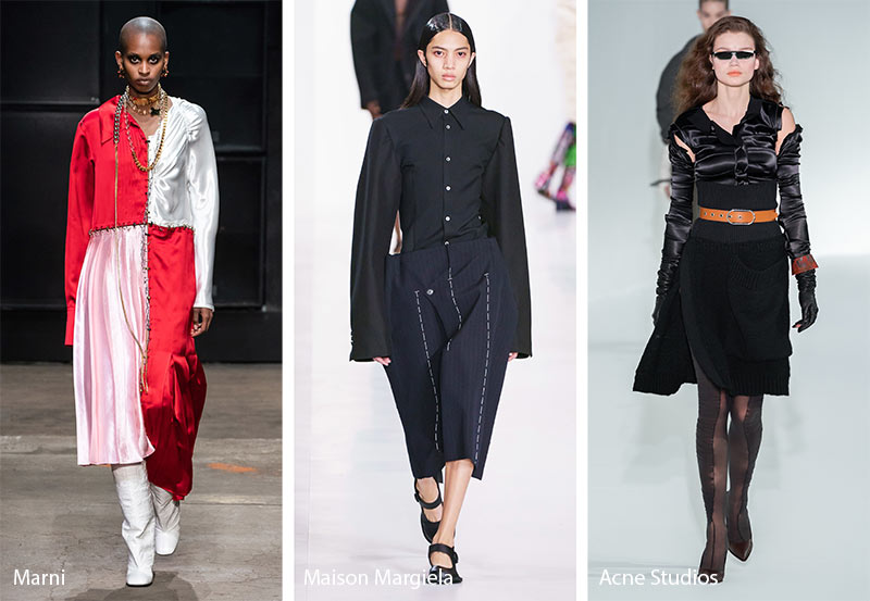 fall winter 2019 2020 fashion trends undone deconstructed clothing