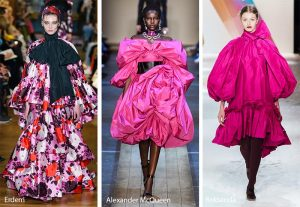 fall winter 2019 2020 fashion trends voluminous meringue dresses