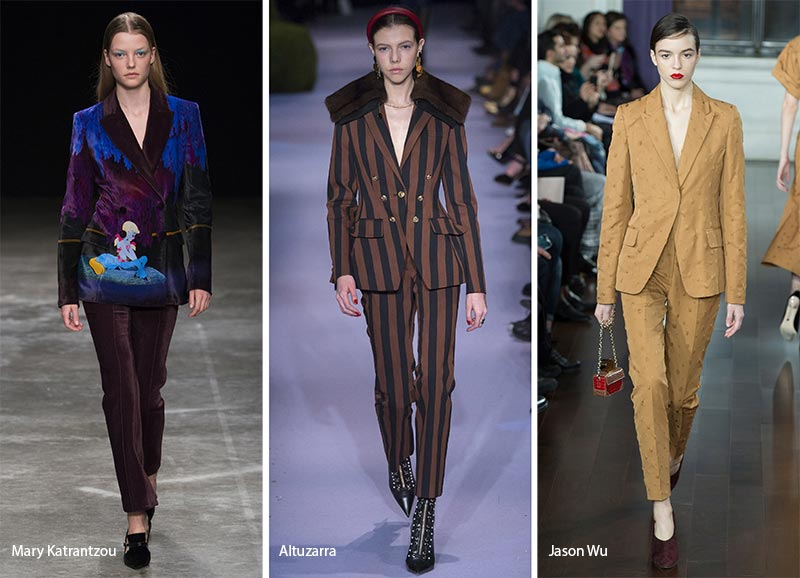 fall winter 2017 2018 fashion trends pant suits